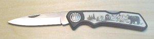 Animal scene pocket knife   #17