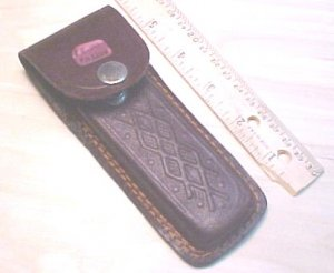 Brown leather pouch #26