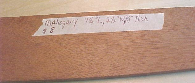 Mahogany handle material  #128