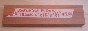 Peruvian alder handle material #122