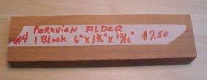 Peruvian alder handle material #123