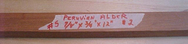 Peruvian alder  handle material  #126