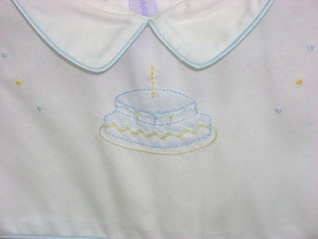 Spring 2008- Besos Birthday Boy Bubble with Hand Piping - closeup view