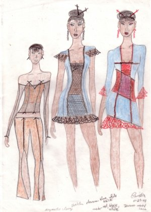 Chic Collection Fashion Art Drawing
