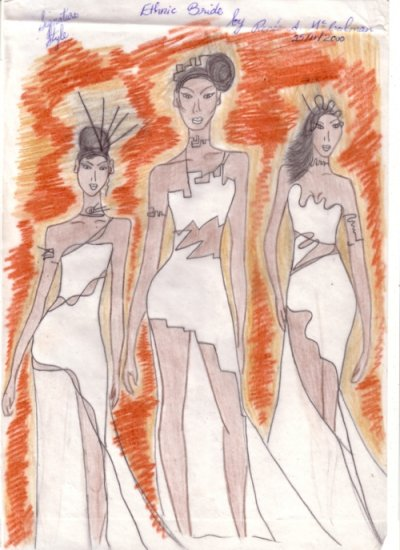 Ethnic Bride Fashion Art