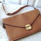 Vintage Genuine Beige Leather Purse Creation Kamouraska