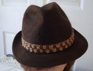 Vintage Brown Felt Men Hat 6¾ 54cm 21½ Biltmore Llama