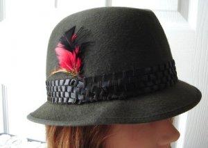 Vintage Grey Felt  Men Hat 6¾ S Morgan Special