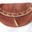 Vintage Brown Genuine Leather Clutch Purse BACC Boho!