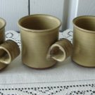 Vintage 3 Studio Pottery Red Clay Coffeee Mugs/Cups M Bouchard