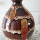 Vintage Brown/Red  Lava Pottery Table Lamp 70's
