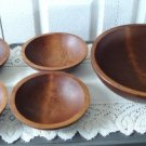 Vintage Wood Salad Serving Bowls Baribocraft  60's