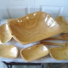 Vintage Huge Wood Salad bowl  Set So Retro!