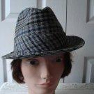 Vintage Black/Grey  Plaid  Men Hat  6 ¾  S Biltmore