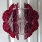 Nylon String/Burgundy Lucite Lamp Panton Eames Era