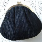 Gorgeous Black Silk Faille Evening Clutch Purse China