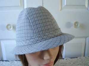 Vintage Light Blue Fabric Men Hat 7 1/8 Med Stetson