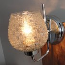 Vintage wall sconce glass & chrome lamp