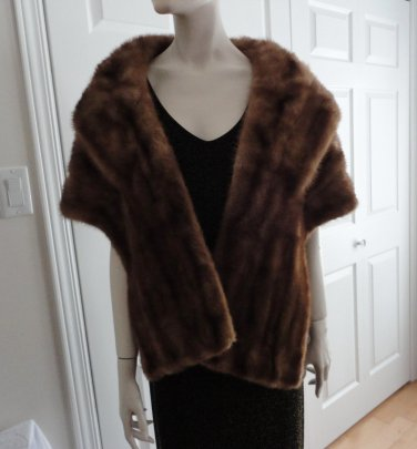 SOLD SOLD SOLD Vintage Mink Stole Made in Canada 60s Sold