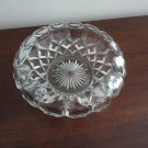 Vintage Clear Glass Diamond Pattern Dish