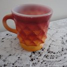 Vintage Fire King Orange Kimberly Pattern Mug #31