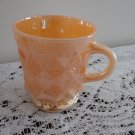 Vintage Peach Lustre Kimberly Pattern Fire King Mug #20