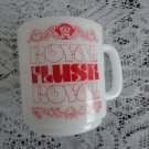 Vintage Glassbake Royal Flush White Glass Mug 60s
