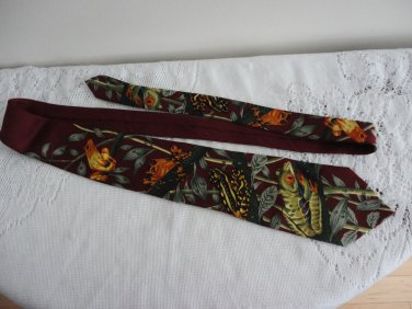 Bruce Rain Forest Wildlife Domain Polyester Tie