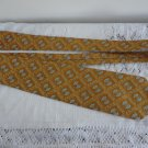 Vintage Wide Golden Yellow NeckTie Polyester Capri