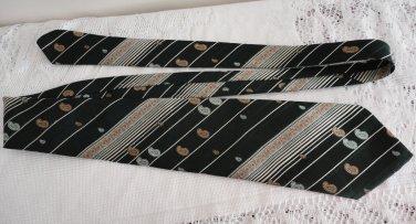 Vintage Louis Feraud Dark Green Polyester Necktie