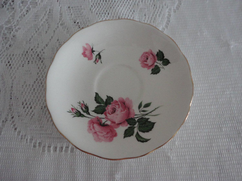 Vintage white bone china Saucer Queen Anne Ridgway Potteries England