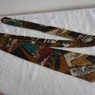 Vintage Major Cities Hotels Design Silk Necktie