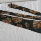 Vintage Green/Brown Floral Design 100% Pure Silk Necktie Boulevard Club