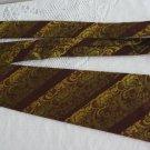 Vintage Golden Polyester Wide Necktie Wemlon