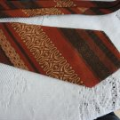 Vintage Wide Polyester Blend Rust/Brown Necktie Dai-Lon