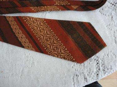 Vintage Wide Polyester Blend Rust/Brown Necktie Dai-Lon