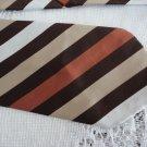 Vintage Brown/Rust Striped Polyester Wide Necktie Remon D'Urville