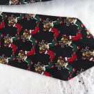 Vintage XMASS Silk Necktie St Nicks Tie Shop