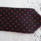 Vintage Black/Red/Grey Pure Silk Necktie Morgan Switzerland