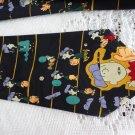 Vintage Black Charlie Brown Design Polyester Necktie Street Scenes