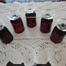 Vintage Ruby Red Arcoroc 5 Cordial Glass Footed France
