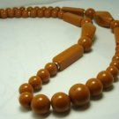 Vintage Preowned Buttercotch Lucite Matinee Necklace 70's