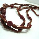Vintage Mixed Forms Brown Plastic Necklace 50s