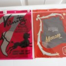 Vintage 2 Pairs Nylon Stockings Seamless 9 1/2 /32, Monaco 15 Denier, Vanity NOS