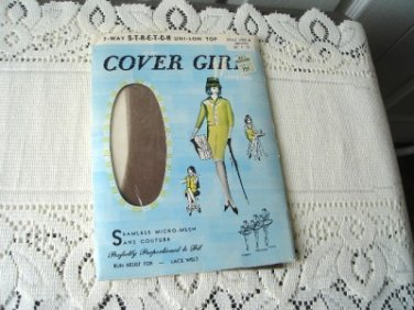 Vintage 1 Pair Brown Nylon Stockings Stretch 10-33 Cover Girl