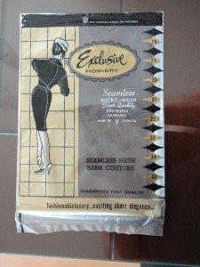 Vintage Pair Nylon Stockings Seamless Micro-Mesh Exclusive Hosiery Size 9
