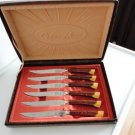 Vintage Bakelite Steak knives Set  GloHill Boxed Near Mint