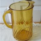 Vintage Yellow Pitcher Ice Lip Spiral?? 60's
