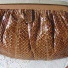 Vintage Med Brown Snakeskin Purse Coret Canada 70's