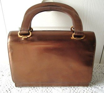 Vintage Brown Vinyl Purse Coret 60's Made in Canada